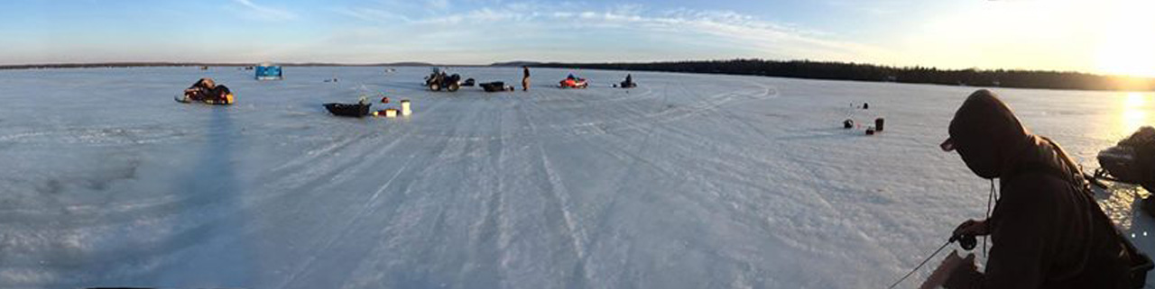 Ice Fishing for Walleye & Jumbo Perch on Lake Gogebic in
