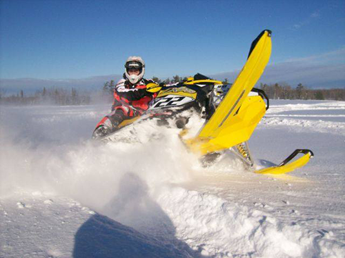 Snowmobiling in Michigan UP